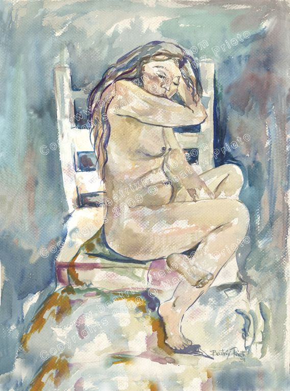 mujer en silla / woman on chair