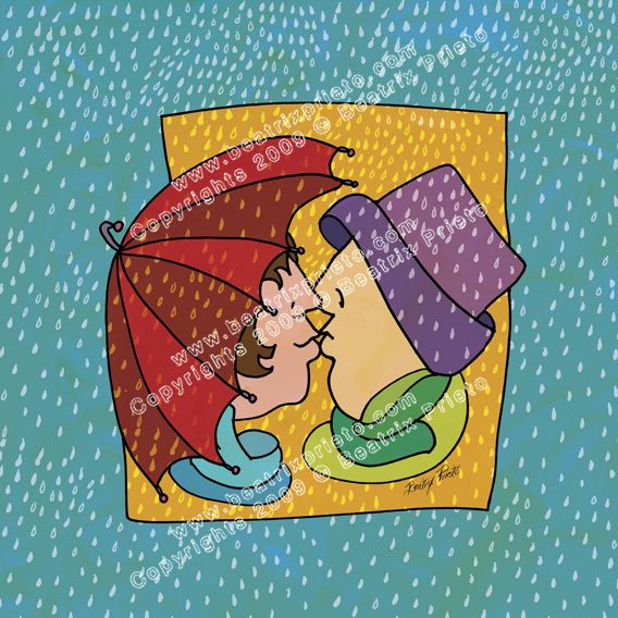 42.- Bes�ndose en la lluvia / kissing under the rain