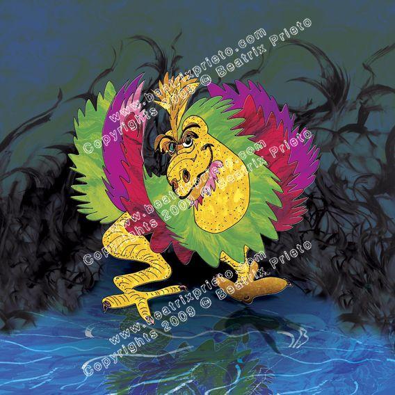 79.- Dino-Gallo / Dinosaur-rooster