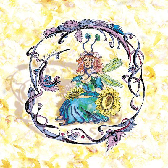 94.- El hada Girasol / Sun flower fairy
