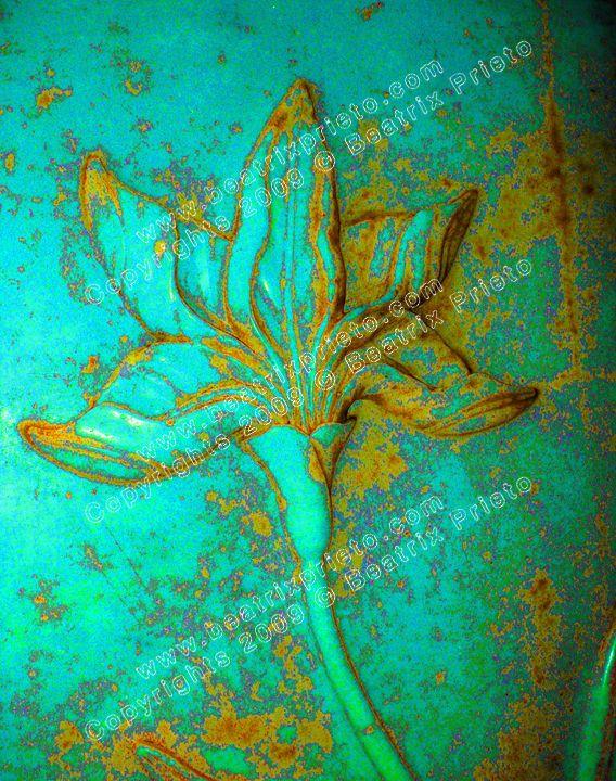 Oxido Flor Turquesa / Turquoise Flower Oxido